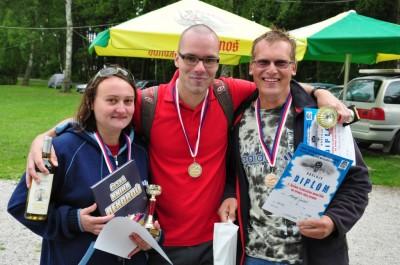 Na Špince - stupně vítězů 1500 m